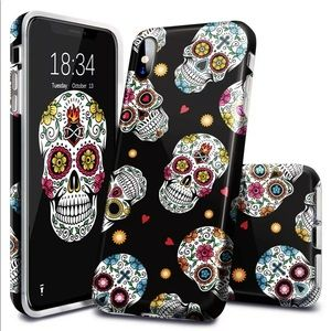 Halloween Skull Pattern, Fingic iPhone Xs Max Case